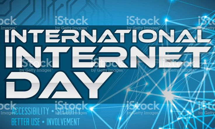 Network Concept And Electronic Circuit For International Internet Day