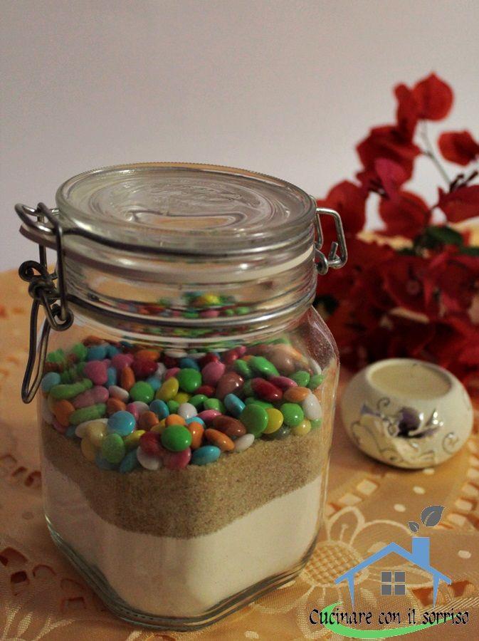 preparato biscotti arcobaleno