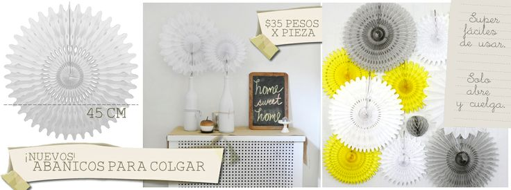 Abanicos de papel para colgar ideas originales para - Abanicos para decorar ...