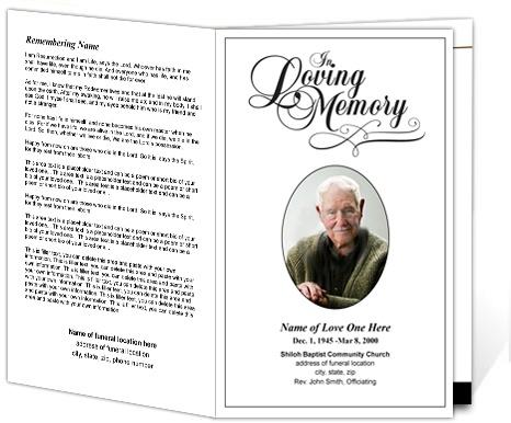 Funeral Program Format Funeral Mass Program Template Funeral - free download funeral program template