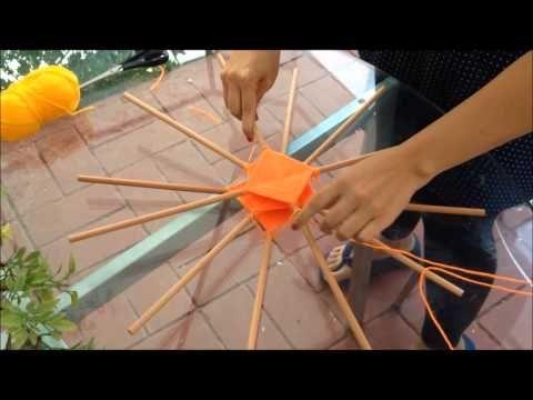 uniendo 12 palos de una mandala tejido - YouTube