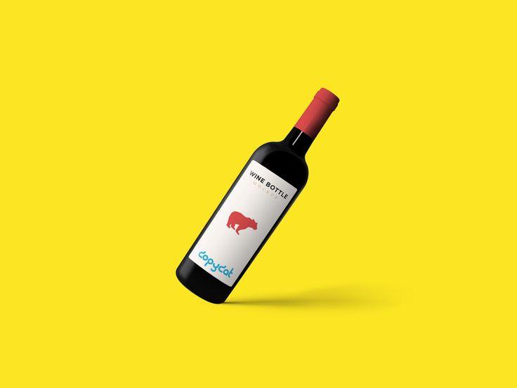 Wine Bottle Mockup FREE! (psd mock up)