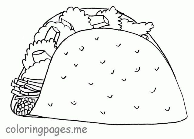 Wonderful Image Of Taco Coloring Page Entitlementtrap Com Food Coloring Pages Crayola Coloring Pages Coloring Pages Inspirational