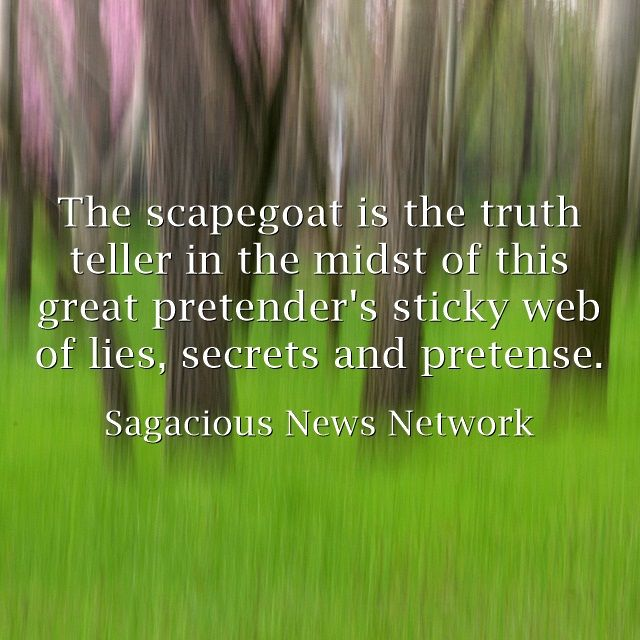 The scapegoat is the truth teller in the midst of this great...
