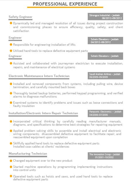 12 best Best Professional Resume Samples 2015 images on Pinterest - electronic repair technician resume