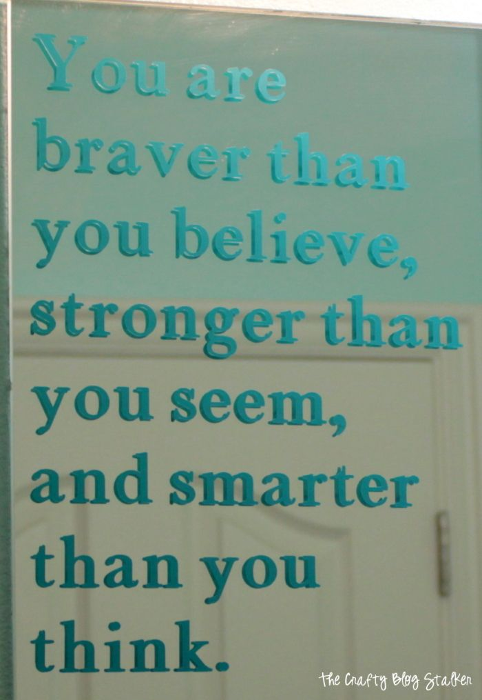 How To Make Mirror Vinyl Quote Inspiration With Cricut Explore