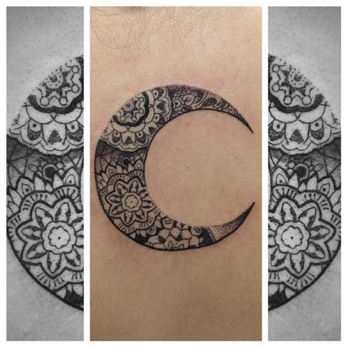 moon tattoo - Google Search De mandela's vind ik erg mooi.