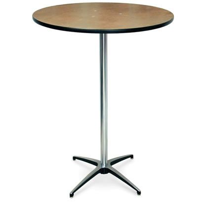 Wooden Highboy Cocktail Table - Rental