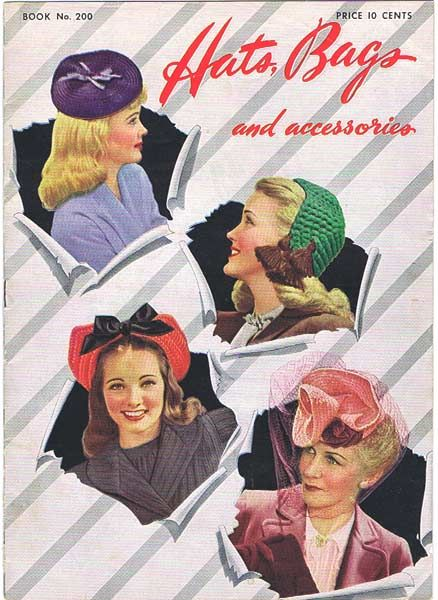 Hats, bags and accessories, vintage 1940s