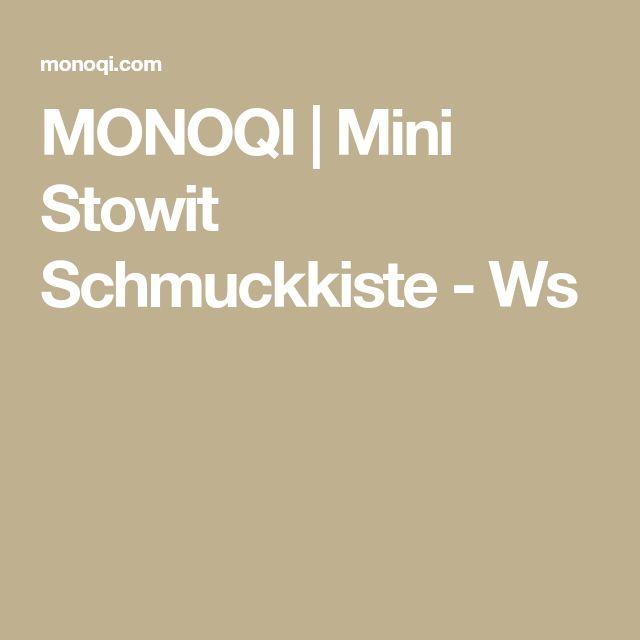 MONOQI | Mini Stowit Schmuckkiste - Ws