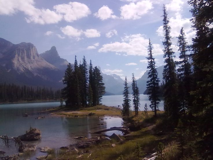 Tur til Canada - British Columbia: Jasper - Maligne Lake og Spirit Island