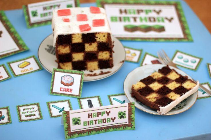 Tort urodzinowy Minecraft (Minecraft Cake)   paulinawnuk.com