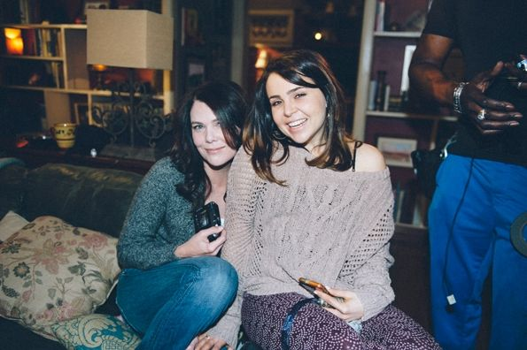 Lauren Graham and Mae Whitman on the set of #Parenthood
