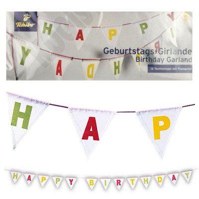 Vlaggenlijn verjaardag Happy Birthday 2 mtr