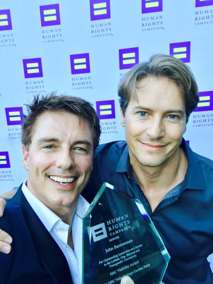 John Barrowman and his husband Scott Gill