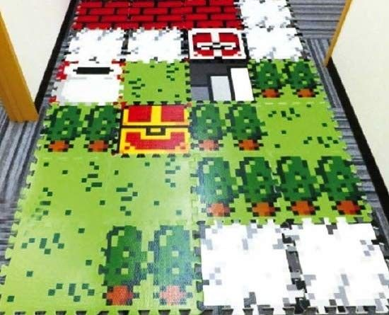 Transform The Floors In Your House Into An 8-Bit Video Game Map