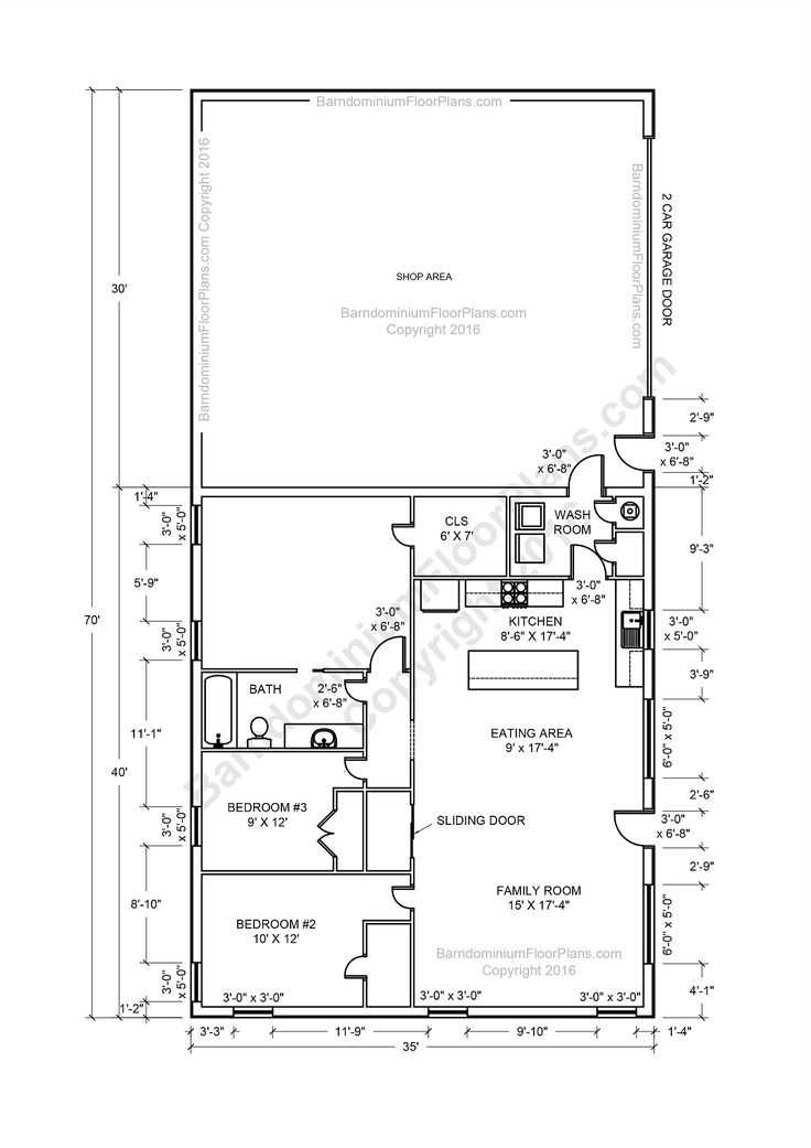 40x80 Shop Living Quarters