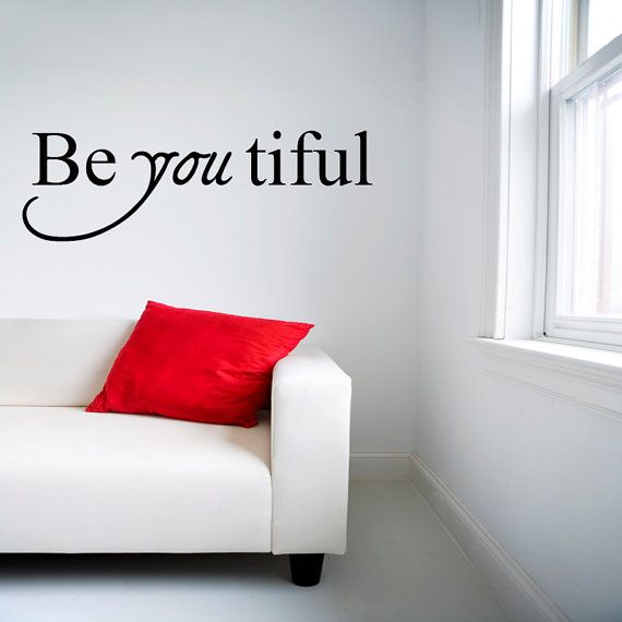 Beautiful wall decal quote  vinyl wall decal  by circlelinestudio, $41.00 Cute on bathroom mirror...?