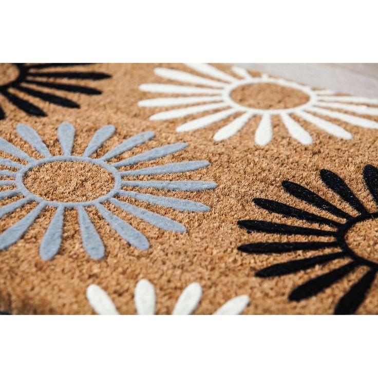 Zipcode™ Design Adams Trail Geometric Flocked Coir Doormat