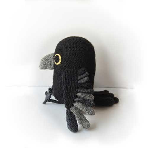 raven pattern - by the flying dutchman #amigurumi #crochet