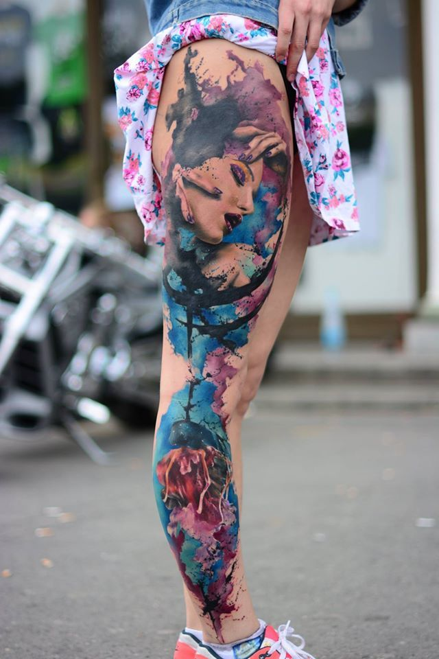 Perfect job, I heard it lasted about 18 hours, but this is just a masterpiece. Lucky model!  Tattoo Convention Prague 2015 | Jakub Zitka tattoo https://www.facebook.com/jakubzitkatattoo