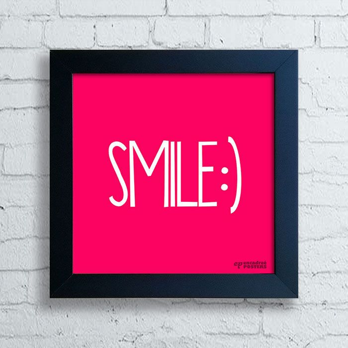 Quadro Decorativo Frases - Smile