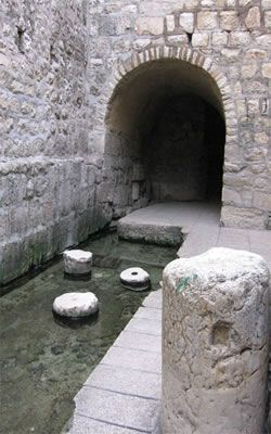 3. Pool of Siloam - The site is located at the end of Hezekiah's tunnel in Jerusalem. A 1,750 foot water tunnel constructed in the 8th century BCE.