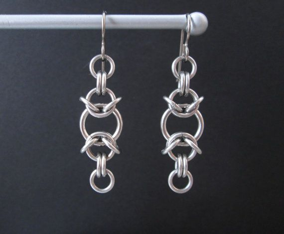 Chainmaille Earrings, Stainless Steel Earrings, Chain Maille Jewelry…
