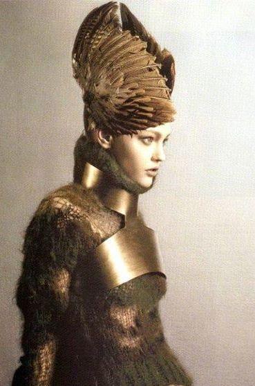 Photo: Warrior of Gentleness. Feather Headdress . Armour