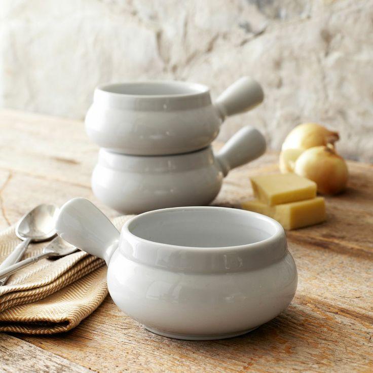 Blanc Soup Bowl with Handle | Sur La Table