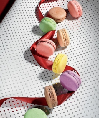 Party-perfect macarons from Hsing Chen, executive pastry chef at the Peninsula at Pierrot Gourmet.: