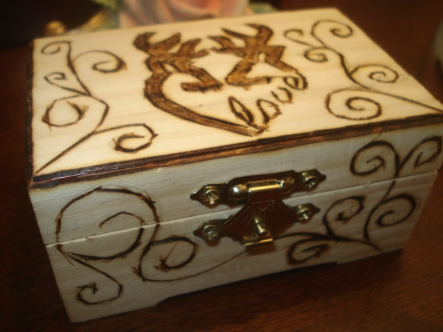 Wooden Browning Deer Jewelry Box by SouthernComfortZone on Etsy, $10.00