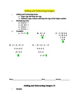 best 25 adding and subtracting integers ideas on pinterest examples of integers multiplying. Black Bedroom Furniture Sets. Home Design Ideas