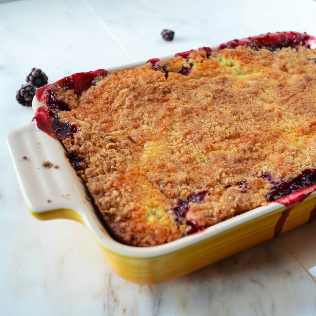 Blackberry Cobbler Recipe. So easy to make from scratch and so good!