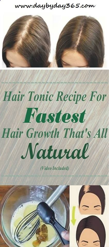 [VIDEO] Natural Hair Tonic Recipe For Fastest Hair Growth Thats All-Natural!