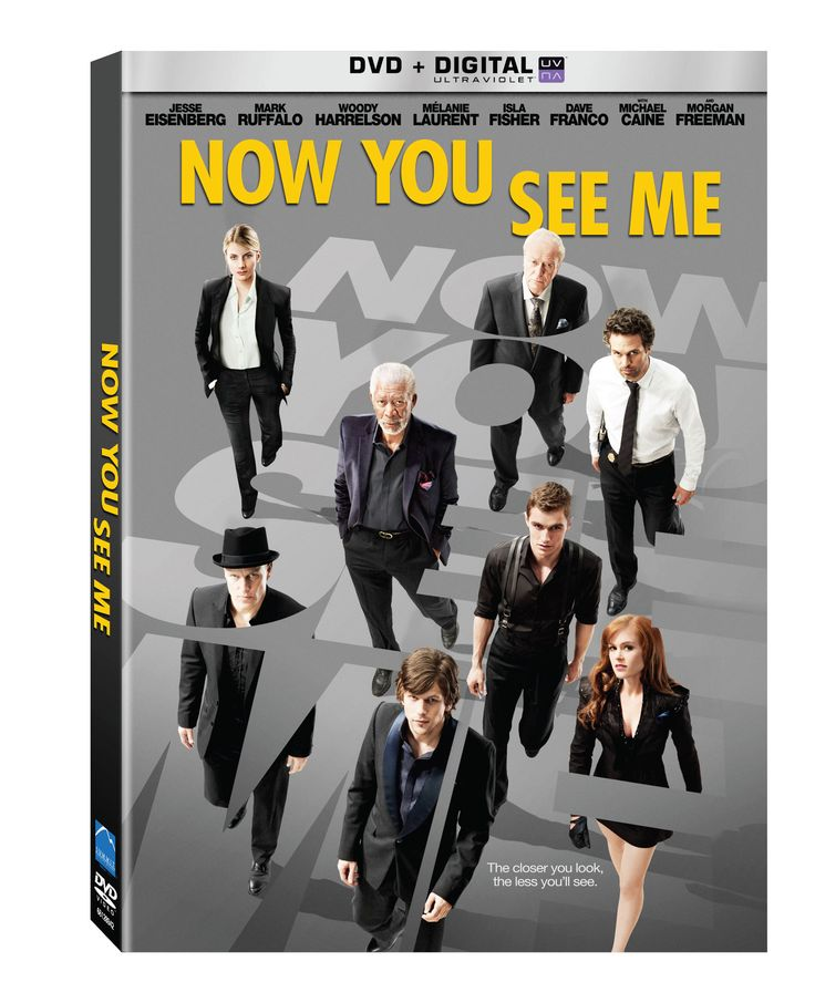 Now You See Me with Jesse Eisenberg, Mark Ruffalo, Woody Harrelson, Melanie Laurent, Isla Fisher, Michael Caine and Morgan Freeman