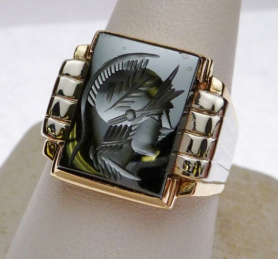 Gold Ring With Centurian Onyx