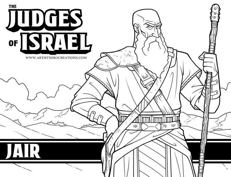 Judges Bible Coloring Pages