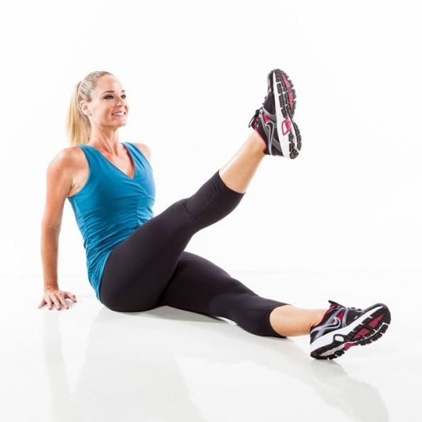 The Single Leg Sit-Up Press is the perfect lower-belly blaster that will also challenge your legs and arms. Give it a try!