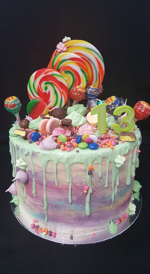 Lolly Overload Cake decorated by Coast Cakes Ltd