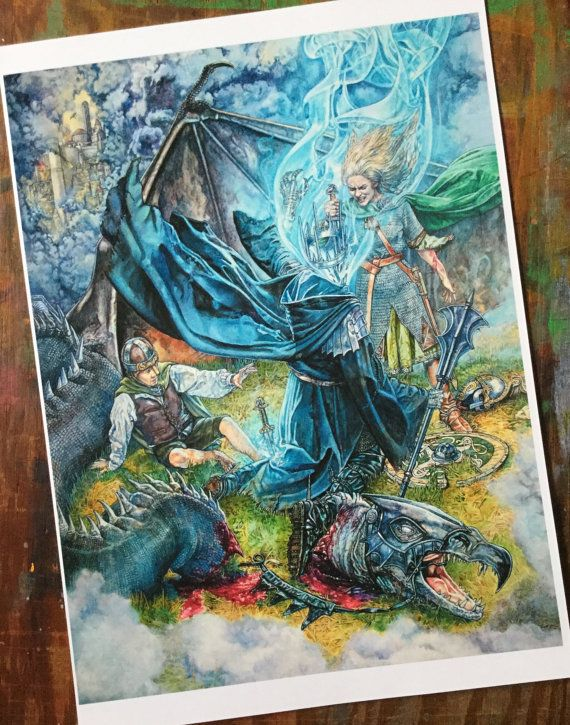 Tolkien print Eowyn The Lord of the Rings The by stephenwalshart