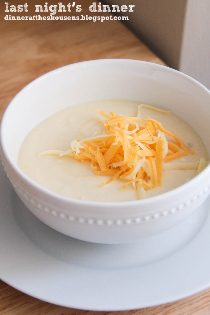 cheesy cauliflower soup // last night's dinner