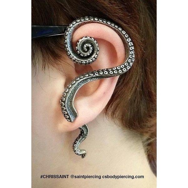 16 Maneras NUEVAS de usar Piercings en las OREJAS ❤ liked on Polyvore featuring piercings and earrings