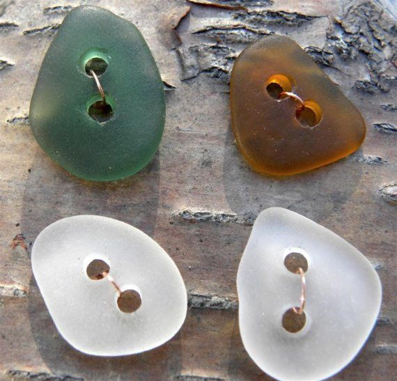 Seaglass Buttons - simple design but very interesting