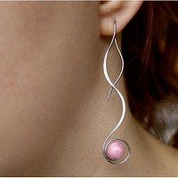 Threading earrings, hand made from surgical steel Osteofix € 8.94