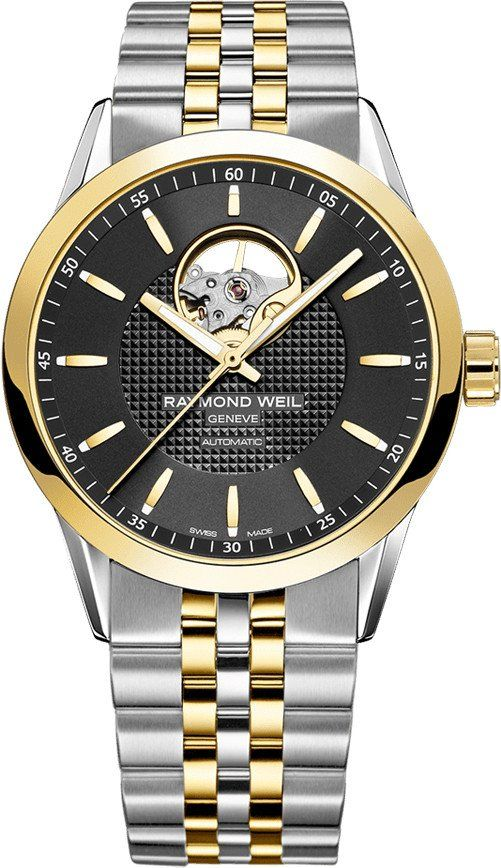 @raymondweil Watch Freelancer #add-content #bezel-fixed #bracelet-strap-gold #brand-raymond-weil #case-depth-10-5mm #case-material-steel #case-width-42-5mm #delivery-timescale-call-us #dial-colour-black #gender-mens #luxury #movement-automatic #new-product-yes #official-stockist-for-raymond-weil-watches #packaging-raymond-weil-watch-packaging #style-dress #subcat-freelancer #supplier-model-no-2710-stp-20021 #warranty-raymond-weil-official-2-year-guarantee #water-resistant-100m