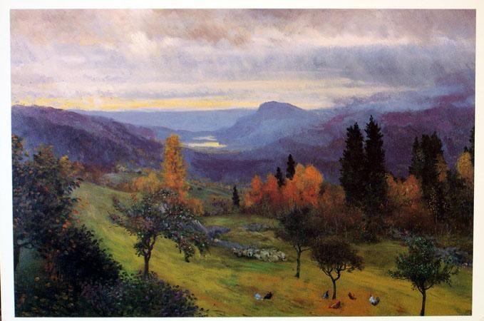 Christian Skredsvig  (1854-1924): Fall in Hagan - Høst i Hagan
