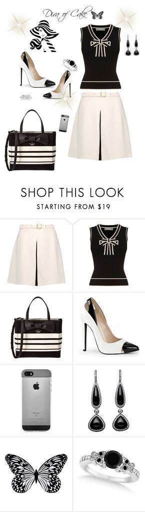 Black  White by Diva of Cake on Polyvore featuring Just Cavalli, Oasis, Kate Spade, Visionnaire and Allurez