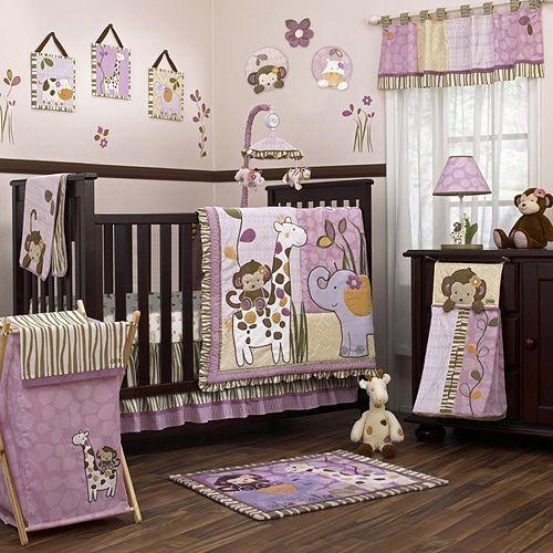 Love The Purple Zoo Theme Cocalo Baby Jacana 8 Pc Crib