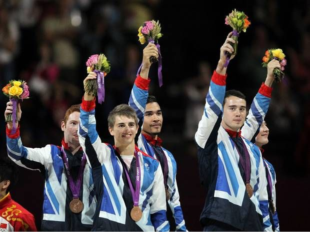 Team GB wins Bronze for the men's team gymnastics event on day three